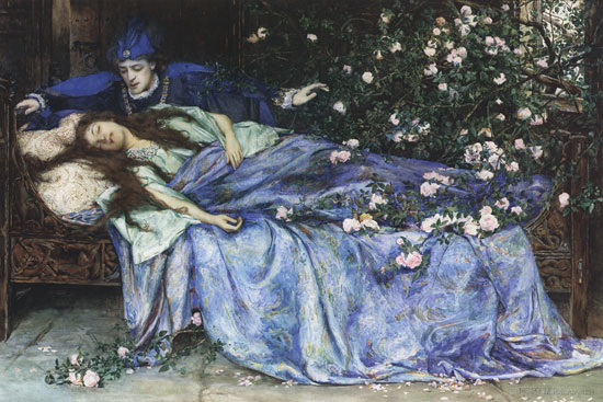 "Henry Meynell Rheam (1859-1920) - ""Sleeping Beauty"""